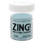 Пудра для эмбоссинга Zing Powder  (светло-голубой), 1/3 банки, примерно 5 гр.