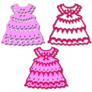 Нож для вырубки Crafty Ann, Baby Girl`s Dress (Платьица), 57*55 мм