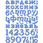 Нож для вырубки Crafty Ann, Small Alphabet Set (алфавит)